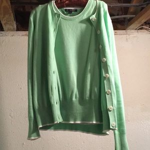 Brooks Brothers 346 Light Mint Green Sweater